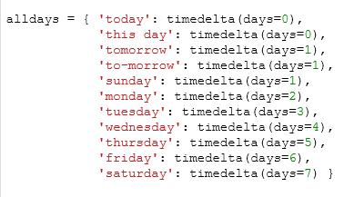 days code