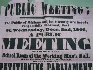 Oldham poster, 1846
