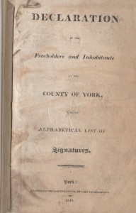 york declaration october 1819