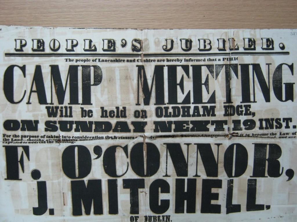 Camp meeting poster, 1848