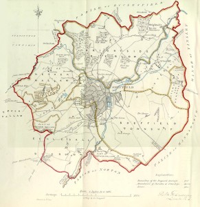 Sheffield, 1832 electoral boundaries