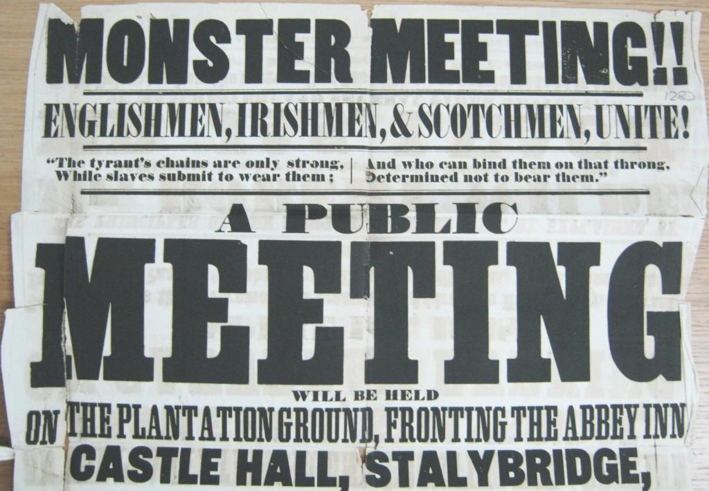 TNA, HO 45/2510, Stalybridge poster, 1848