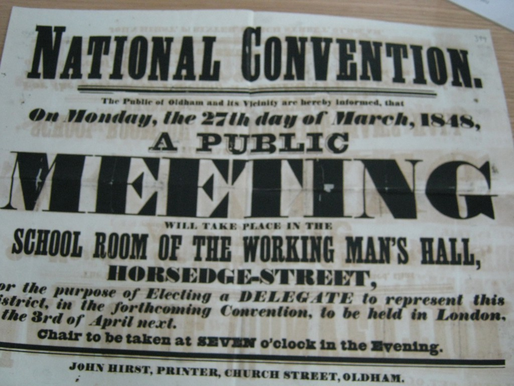 poster, Oldham, 1848