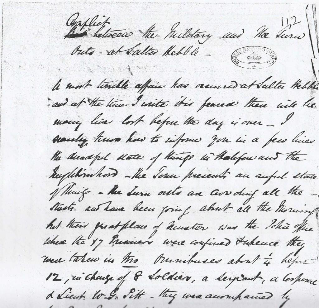 Salterhebble report 1842