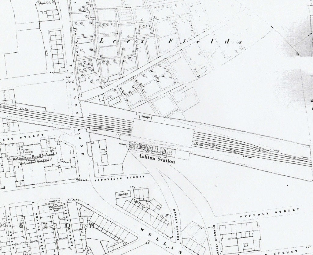 Ashton-under-Lyne, OS map, 1852